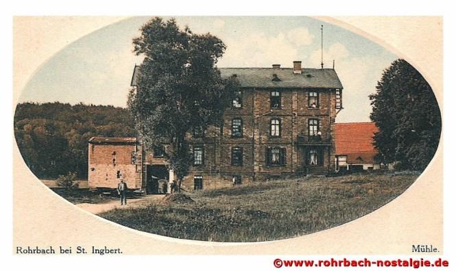 Die Rohrbacher Mühle im Jahr 1917