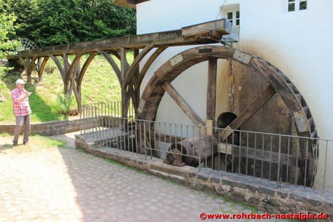 So ähnlich wie hier an der Johann Adams Mühle in Theley sollen die drei oberschlächtigen Mühlenräder ausgesehen haben