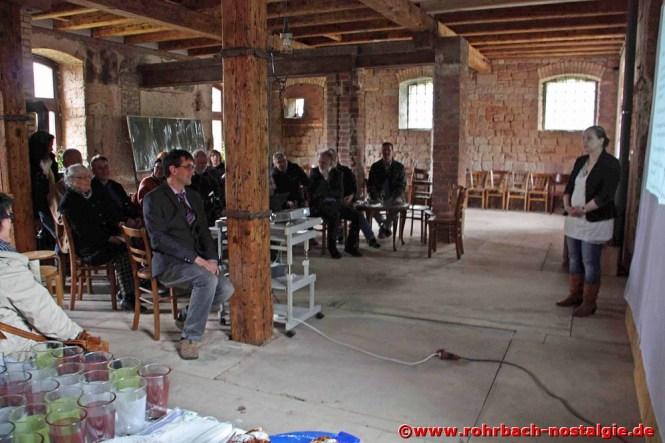 Blick in den Raum, in dem später Ausstellungen und Konzerte stattfinden sollen