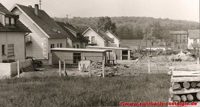 Blick Anfang der 60er Jahre von der Mühlstraße auf die Rohrbacher Mühle