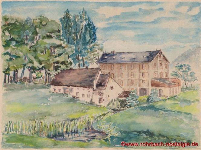 Ein Gemälde des Rohrbacher Hobbymalers Johann Rohe von der Rohrbacher Mühle