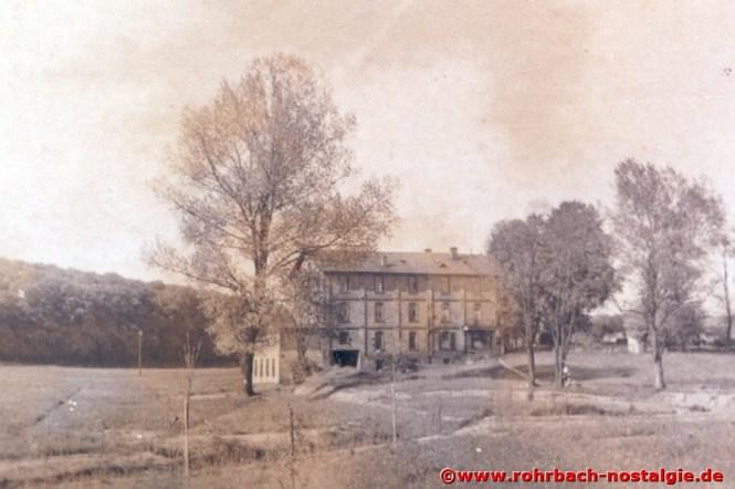 Die Rohrbacher Mühle von der Mühlstraße (Kolonie) aus gesehen