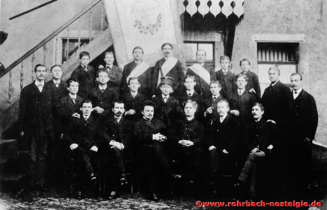 """1883 Sänger des """"Jünglings-Gesangverein"""" Rohrbach"""