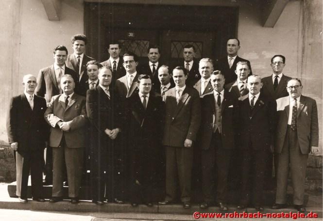 1960 Der Festausschuss des Chores im Jubiläumsjahr