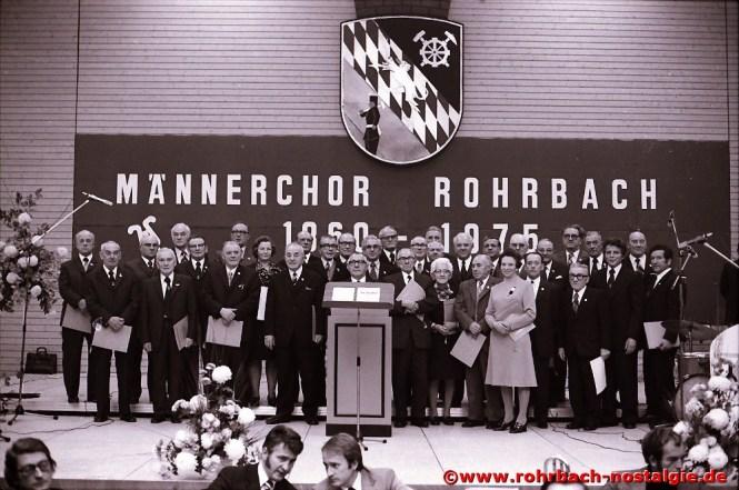 1975 Ehrungen beim 115-jährigen Bestehen in der Rohrbachhalle