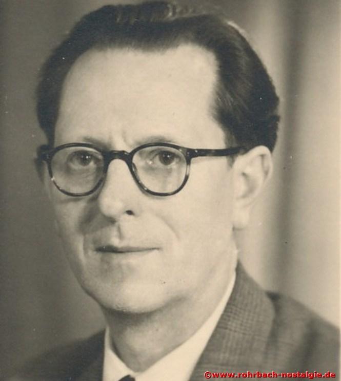 1960 Der langjährige Dirigent des Chores Georg Wilker aus Saargemünd