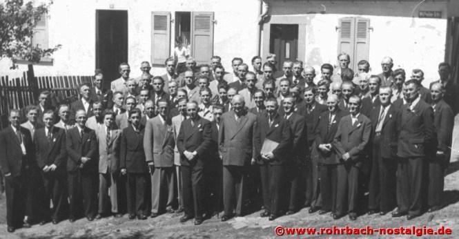 Der Männerchor um 1950