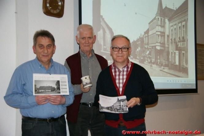 Das Kalenderteam der Rohrbacher Heimatfreunde: Karl Abel, Walter Gehring und Walter Jacob Die einzelnen Monatsbilder: