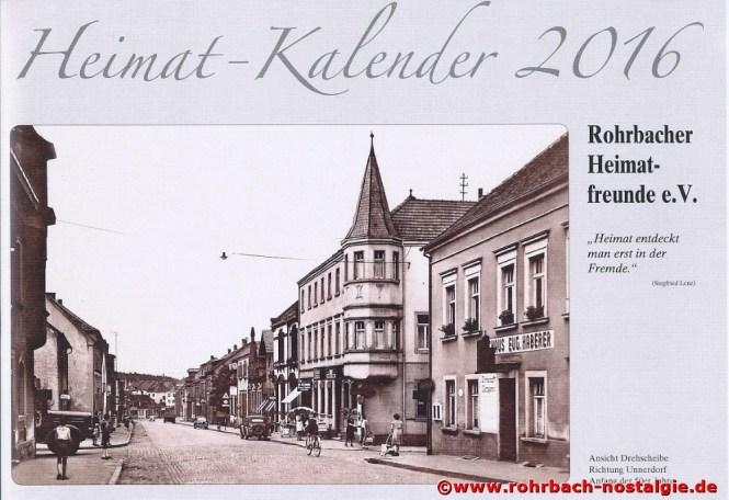 Titelbild des neuen Rohrbacher Heimatkalenders 2016