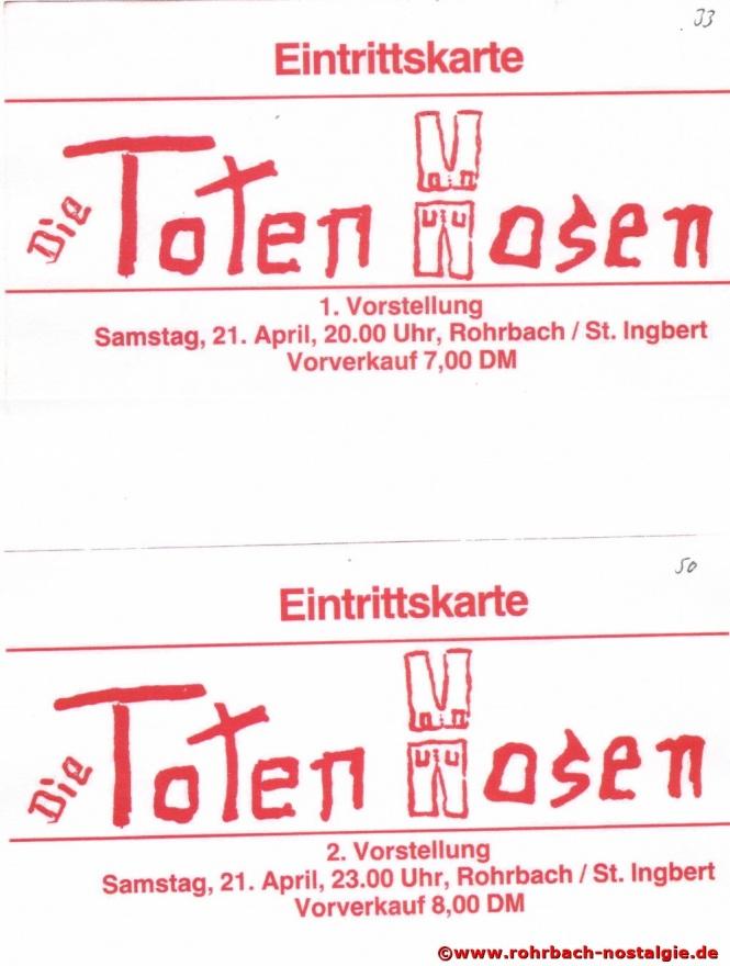 1984 04 21 Eintrittskarten