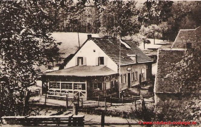 """1935 Die heutige Gastwirtschaft """"Rohrbacher Glashütte"""""""