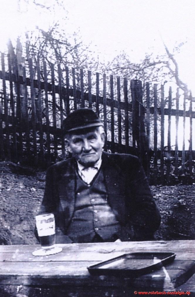 Großgrundbesitzer Ludwig Pauly senior im Jahr 1955. Er stirbt am 20. Juli 1956 im Alter von 86 Jahren