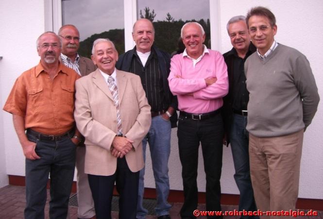 2008 Immer wieder gern gesehen im Kreis seiner ehemaligen Schüler. Hier bei einem Grillfest mit Lothar Burkhart, Josef Bayer, Gerd Michaeli, Horst Diehl, Egon Wittmer und Karl Abel