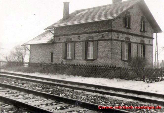 Das Bahnwärterhäuschen in der Au ist das Elternhaus des Autors