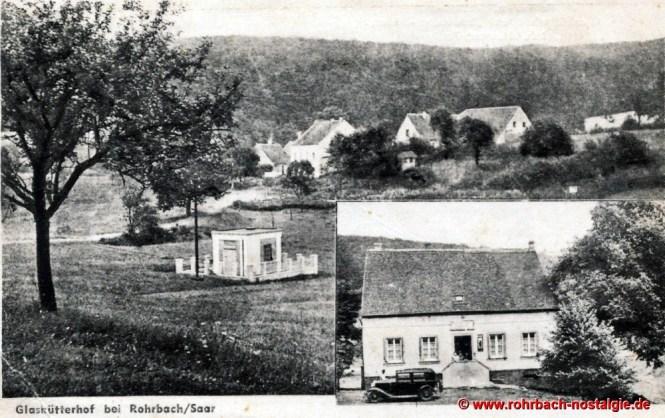 Eine Postkarte vom Glashütterhof aus den 30er Jahren