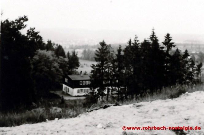 Der Rohrbacher Hof in der Nähe des Elternhauses von Herbert Bergsträßer (hier nebenan im Wald findet bis 1962 das Heckel Waldfest statt)
