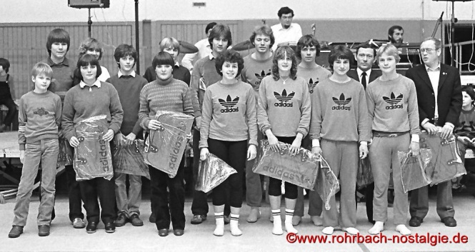 1980 Meisterehrung beim TV 66 Rohrbach