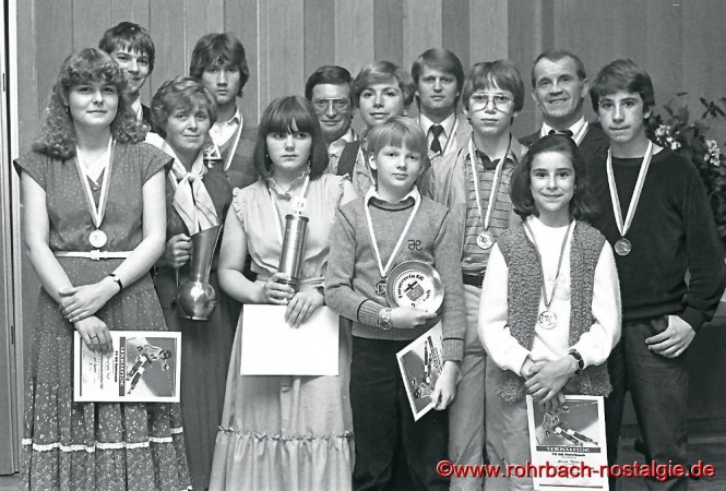 1980 Meisterehrung bei der Ski-Abteilung des TV 66 Rohrbach