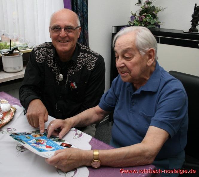 2014 Rudi Lenhard, ein ehemaliger Schüler, seit 1981 wohnhaft in Australien, besucht Albert Senzig