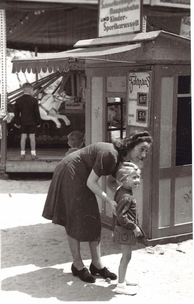 1948 die Geschwister Edlinde und Gisela Allmannsberger