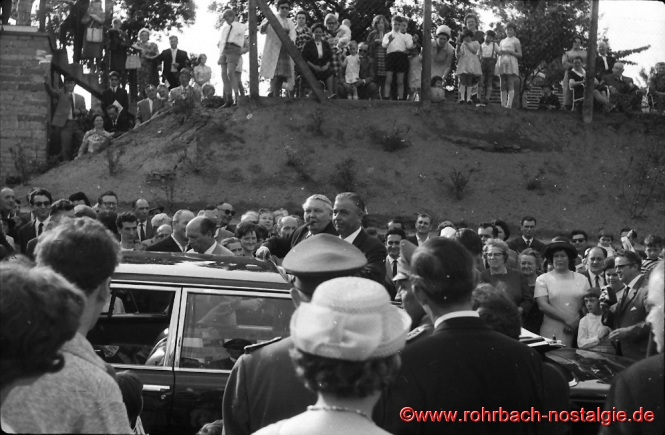 1965 Bundeskanzler ludwig Erhard und der saarländische Ministerpräsident Ernst Röder