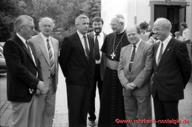 1986 am 22. Juni weilt der Bischof Anton Schlembach anlässlich der Firmung in Rohrbach.