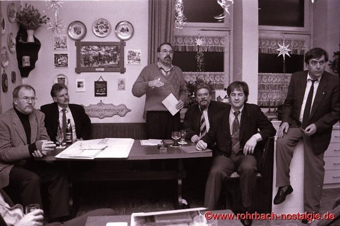 1993 Der saarländische Umweltminister Jo Leinen bei einer Bürgerversammlung der rohrbacher SPD.