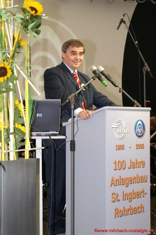 2005 Ministerpräsident bei der Jubiläumsveranstaltung 100 Jahre Anlagenbau in Rohrbach