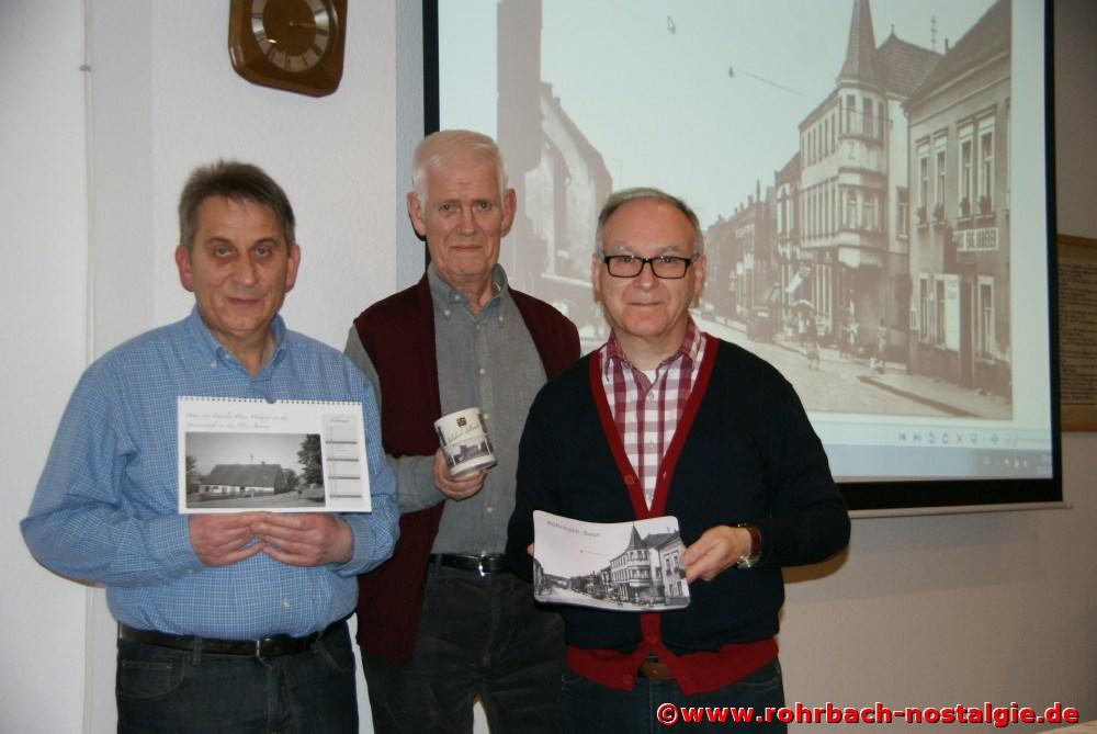 Das Kalenderteam der Rohrbacher Heimatfreunde Karl Abel, Walter Gehring und Walter Jacob