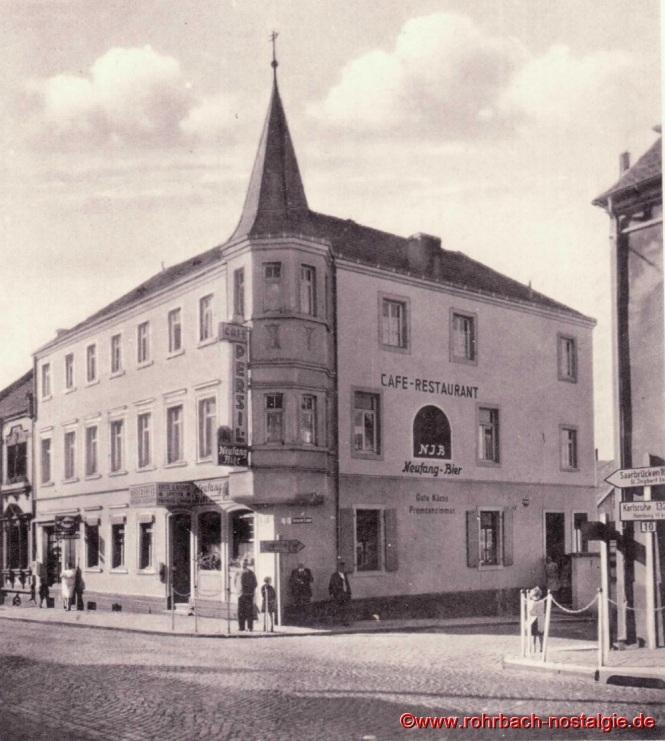 Das Cafe - Restaurant Persil um 1940