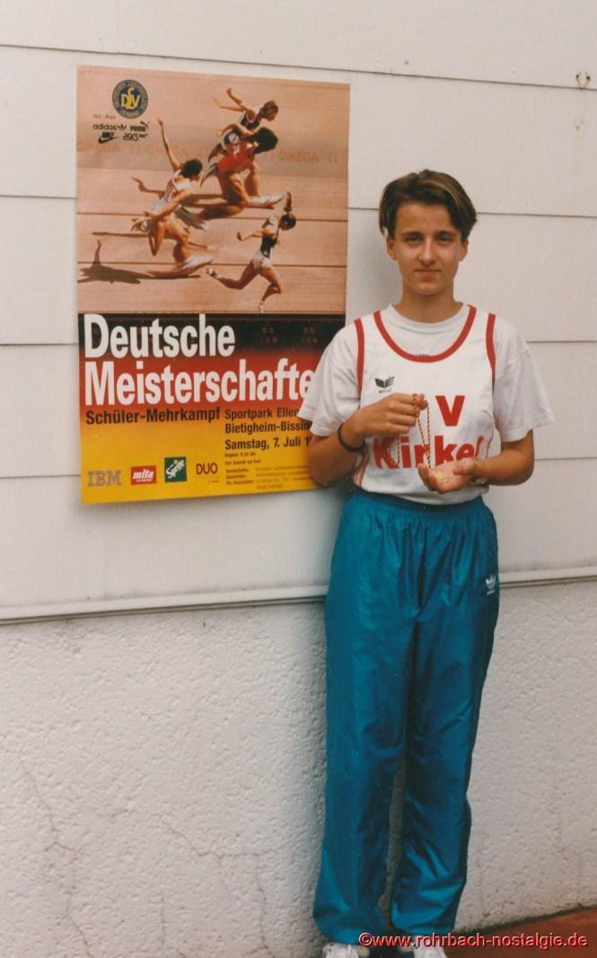 Deutsche Schülermeisterin Sandra Abel