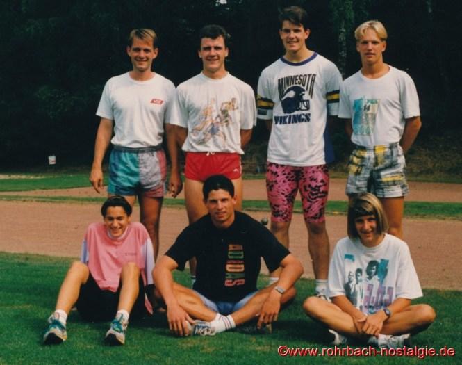 Sommer 1991Trainingsgruppe am Olympistützpunkt Saarbrücken