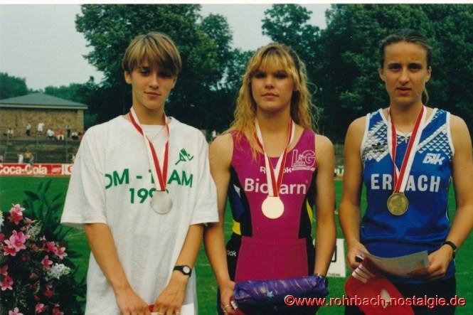 03. Juli 1993: Sandra Abel gwinnt bei den Deutschen Jugendmeisterschaften im Stadion Rote Erde in Dortmund