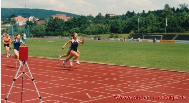1994 Sandra Abel Siegerin über 200 m bei den saarländischen jugendmeisterschaften in St. Wendel