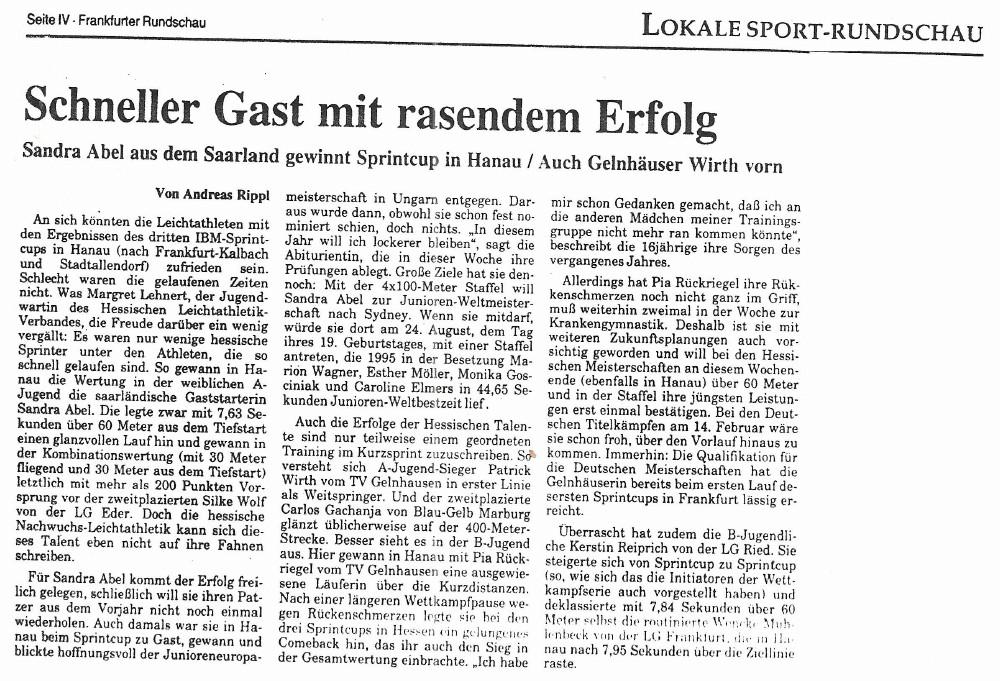 Zeitungsausschnitt Frankfurter Algemeine