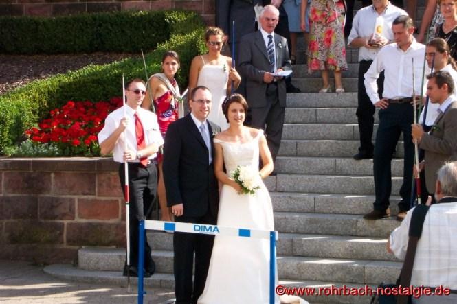 Sportlerhochzeit am 16. August 2003 in Rohrbach