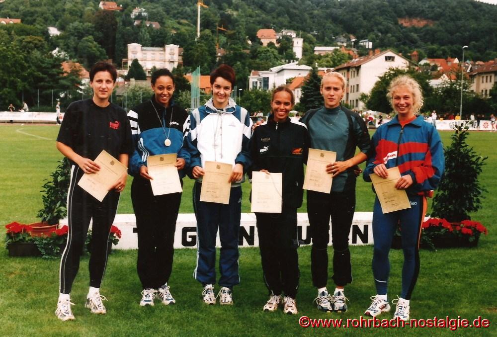1999 bei den Deutschen juniorenmeisterschaften in Gelnhausen die Sechs Teilnehmer am 200 m Endlauf