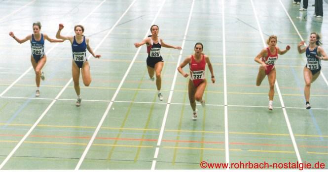 1995 Endlauf über 60 m bei den Deutschen Hallen-Jugendmeisterschaften in Hanau.