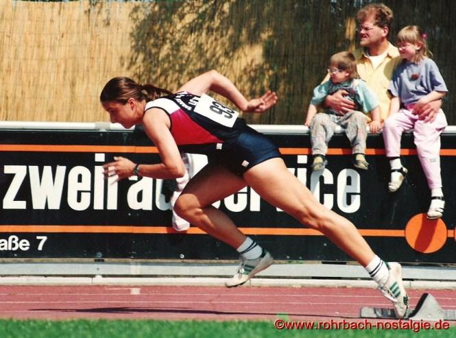 1994 Sandra beim Start auf einem Sportfest in Worms