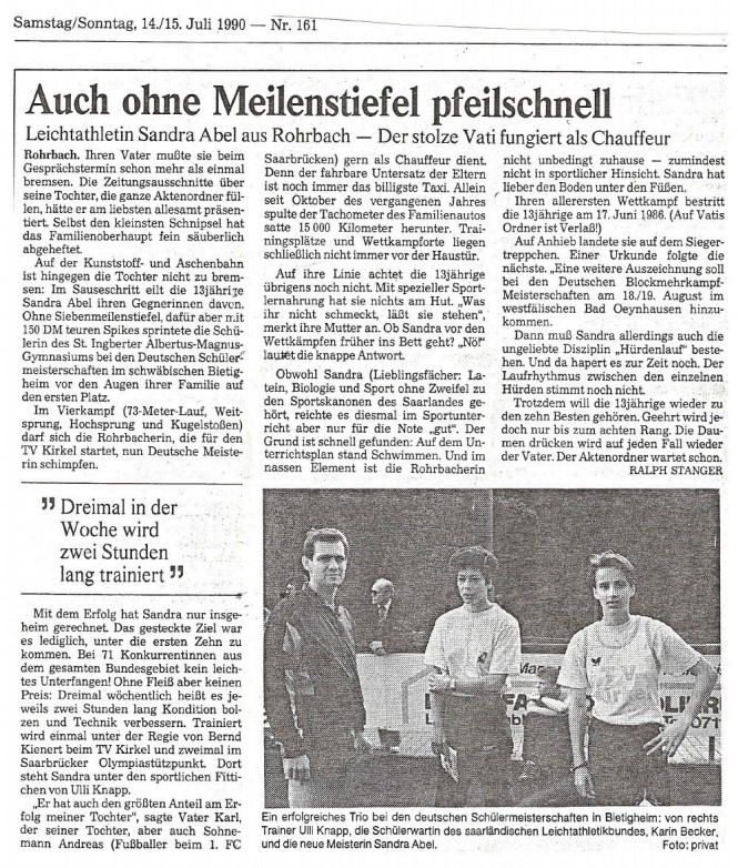 Interview in der Saarbrücker Zeitung