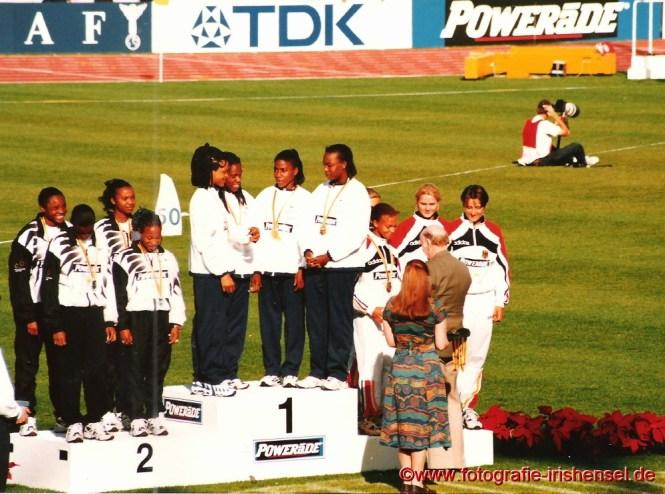 Sandra bei der Siegerehrung