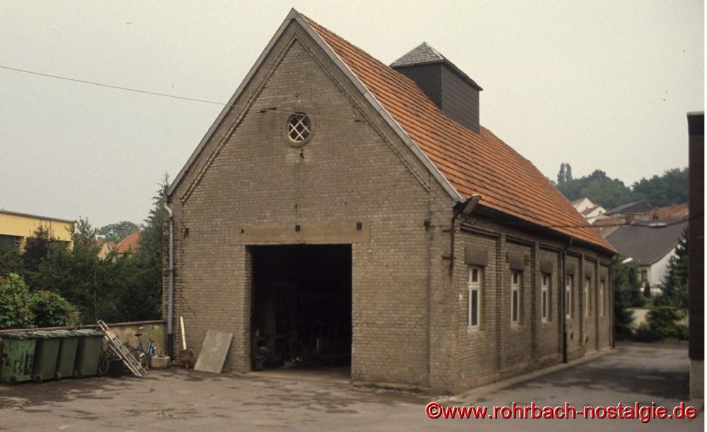 Das 1925 gebaute Feuerwehrhaus (später Bauhof der Gemeinde Rohrbach) beim Wiesentalschullhaus